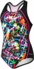 Speedo Graphic Graffiti Sport Splice One Piece Suit Girls