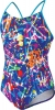Speedo Graphic Graffiti Keyhole One Piece Suit Girls