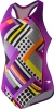 Speedo Poptical Stripes Sport Splice Girls