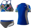Speedo Poptical Stripes Rashguard 3PC Set Girls