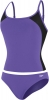 Speedo Mesh Adjustable Strap Tankini Set Female