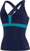 Speedo Color Blocked Crossback Tankini Top Female
