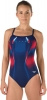 Speedo Red Bright and Blue Warp Endurance+ Drill Back Female