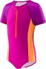 Speedo Girls 4-6X Short Sleeve Zip 1PC