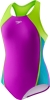 Speedo Girls Mesh Splice Thick Strap 1PC