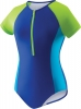 Speedo Girls Short Sleeve Zip 1PC