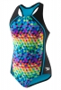 Speedo Girls Illusion Cubes Sport Splice 1PC