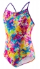 Speedo Tie Dye 1PC Thin Strap Keyhole Back Girls