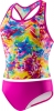Speedo Girls Tie Dye Splash Keyhole Tankini 2PC