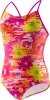 Speedo Girls Fractured Floral Keyhole 1PC