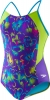 Speedo Girls Neon Love Split Splice 1PC