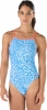 Speedo Turnz Endurance Lite Blue Printed One Back Female