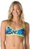 Speedo Turnz Blue/Yellow Endurance Lite Fixed Back 2PC Top Female
