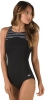Speedo Endurance Plus Stripe High Neck One Piece Female