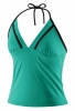 Speedo 2 PC Solid Halter Tankini Top Female