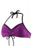 Speedo 2 PC Solid Halter Bikini Top Female