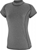 Speedo Heathered Cap Sleeve Rashguard w/Zip Pocket Female
