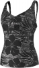 Speedo Line Drawn Floral Comfort Strap Tankini Top Female