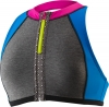 Speedo Heather Zip Front Halter Swim Top Female