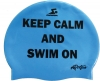 Dolfin Keep Calm Silicone Swim Cap