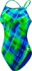 Tyr Baja Plaid Reversible Diamondback w/Cups Female
