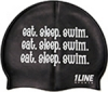 1Line Sports Eat Sleep Swim Silicone Swim Cap