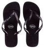 Pull-In Black Slaps Sandals Male