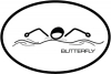 BaySix Butterfly Stick Figure Decal