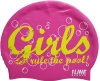 1Line Sports Girls Rule Silicone Swim Cap