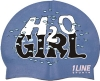 1Line Sports H20 Girl Silicone Swim Cap