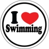 BaySix I Heart Swimming Round Decal