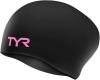 Tyr Pink Long Hair Wrinkle-Free Silicone Swim Cap