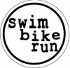 BaySix Swim Bike Run Circle Decal