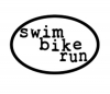 BaySix Swim Bike Run Decal