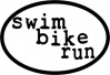 BaySix Swim Bike Run Magnet