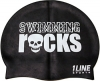 1Line Sports Swimming Rocks Silicone Swim Cap