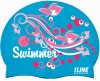 1Line Sports Swimmer Swirl Silicone Swim Cap