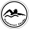 BaySix Swimmer Dude Round Decal