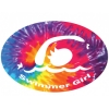 BaySix Swimmer Girl Tie Dye Car Magnet