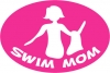 BaySix Swim Mom Car Magnet