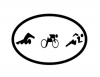 Triathlon Figures Decal