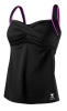 Tyr Pink Solid Twisted Bra Durafast Elite Tankini Top Female