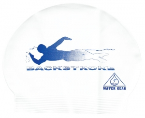 Water Gear Backstroke Latex Swim Cap