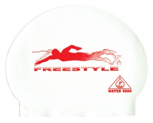 Water Gear Freestyle Latex Swim Cap