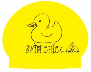 Water Gear Swim Chick Latex Swim Cap