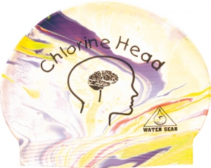 Water Gear Chlorine Head Latex Swim Cap