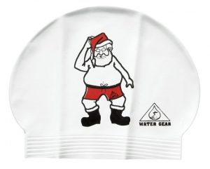 Water Gear Santa Latex Swim Cap