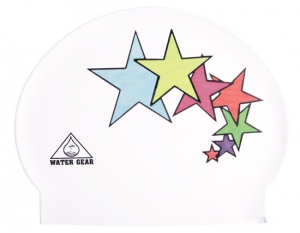Water Gear Stars Latex Swim Cap