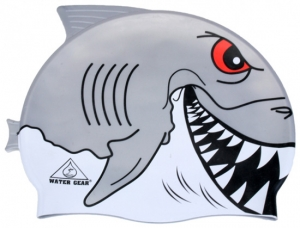 Water Gear Great White Shark Critter Silicone Swim Cap