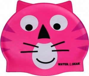 Water Gear Pink Cat Silicone Swim Cap